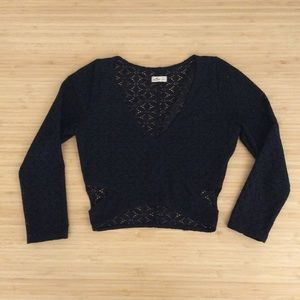 Hollister Crop Top Long Sleeve Youth Size XS